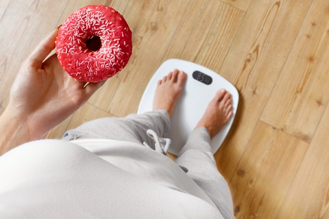 donut and scale